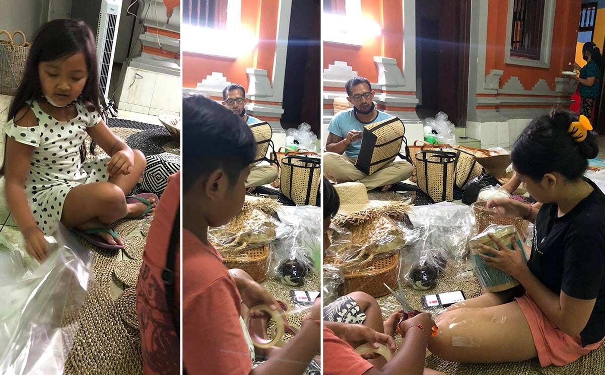 Familie sender håndverk til nettbutikk Umah i Norge