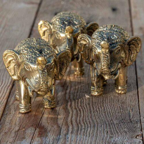 Elefanter i messing