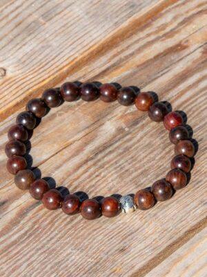 Mørkebrunt tre armbånd med buddha
