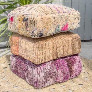 Puff av vintage teppe
