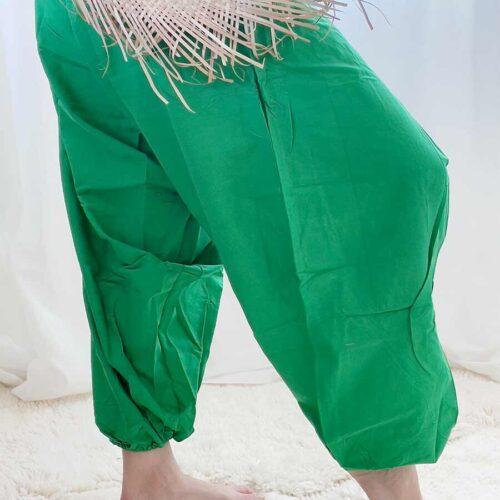 yoga bukse grønn bomull Bali
