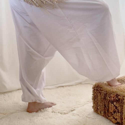 yoga bukse hvit Bali